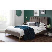 Julian Bowen Deco Brown Velvet Bed Frame, Double