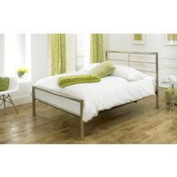 Limelight Celestial Chrome Finish Bed Frame, Double