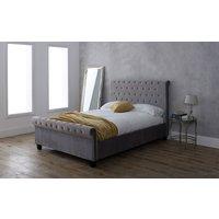 Limelight Orbit Silver Crushed Velvet Bed Frame, Double