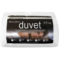 Harwoods 4.5 Tog Microfibre Duvet, Single
