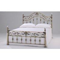 Elizabeth Brass Bed Frame, King Size, Crystal Finials