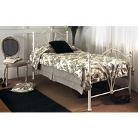 Limelight Nimbus Ivory Metal Bed Frame, Double