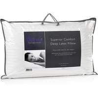 Relyon Superior Comfort Deep Latex Pillow, Standard Pillow Size
