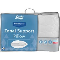 Sealy Posturepedic Zonal Support Pillow, Standard Pillow Size, Firmer Feel