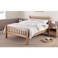 Silentnight Ayton Solid Oak Wooden Bed Frame, Double