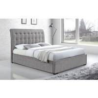 Time Living Hamilton Fabric Bed Frame, Superking, Light Grey