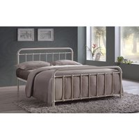 Time Living Miami Metal Bed Frame, Small Double, Ivory