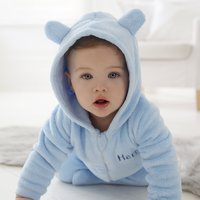 Personalised Baby Onesie - Blue Fleece - Onesie Gifts