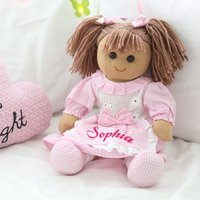 Personalised Gingham Rag Doll