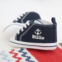 Personalised Anchor High Tops - Navy - Tops Gifts