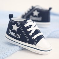 Personalised Silver Star High Tops - Tops Gifts