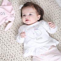 Personalised Pink Bunny Print Pyjamas - Pyjamas Gifts