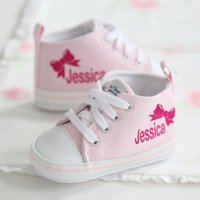 Personalised Bow High Tops - Tops Gifts
