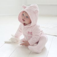 Personalised Baby Onesie - Pink Fleece - Onesie Gifts