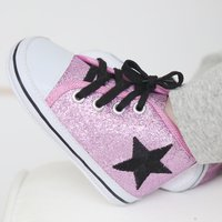 Pink Glitter High Tops - Tops Gifts