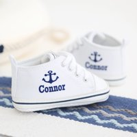 Personalised Anchor High Tops - White - Tops Gifts