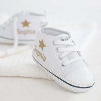 Personalised Gold Star High Tops - Tops Gifts
