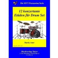 12 konzertante Etüden für Drum Set