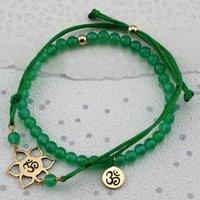Heart Chakra Bracelet In Gold Or Silver, Silver