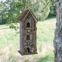 Personalised Grey Hanging Garden Bird House
