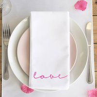 Love Neon Sign Napkin Set Of Two