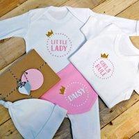 Personalised Princess Baby Girl Gift Set