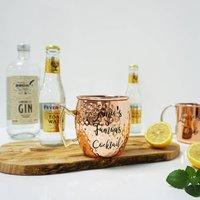 Copper Barrel Hammered Mug