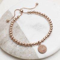 18ct Rose Gold Birthstone Ball Slider Bracelet, Gold