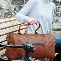 Personalised Leather Duffle Bag