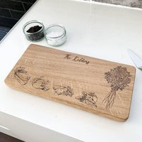 Personalised Wooden Vegetables Chopping Board