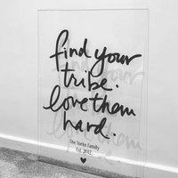 Acrylic Love Your Tribe Wall Art