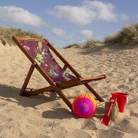 Luxurious Burgundy Red And Mint Green Beach Deckchair