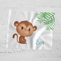 Personalised Jungle Monkey Glasses Cloth