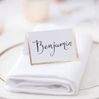 Gold Foiled Border Name Place Cards