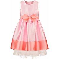 Flower Girl Dress, Florence Pink Bow Taffeta
