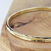 9ct Gold Textured Storybook Bangle, Gold