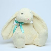 Bunny Large Cream Soft Toy With Personalised Keyring, Cream