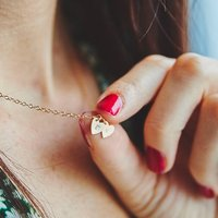Personalised Tiny Heart Charm Necklace