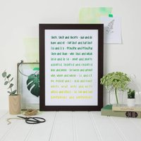 Ombre Green Print For Grammar Police