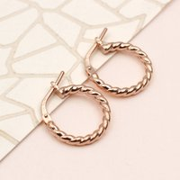 18ct Gold Or Sterling Silver Twisted Huggie Earrings, Silver