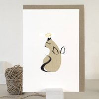 Cat Angel Pet Sympathy Card
