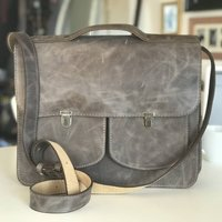Leather Satchel Messanger Bag