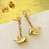 Tiny Whale Earrings