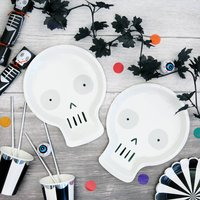 Halloween Skull Shaped Party Plate