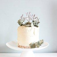 Surname Wedding Cake Topper