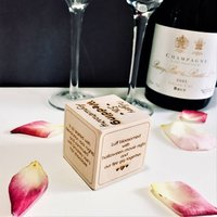Our Story Personalised Wooden Block