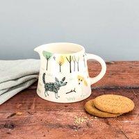 Handmade Ceramic Dog Milk Jug