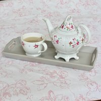 Vintage Wooden Hand Painted Drinks Tray