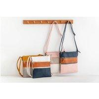 Personalised Tri Colour Handbag