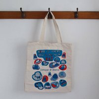 Personalised Hat Storage Bag, Blue/Red